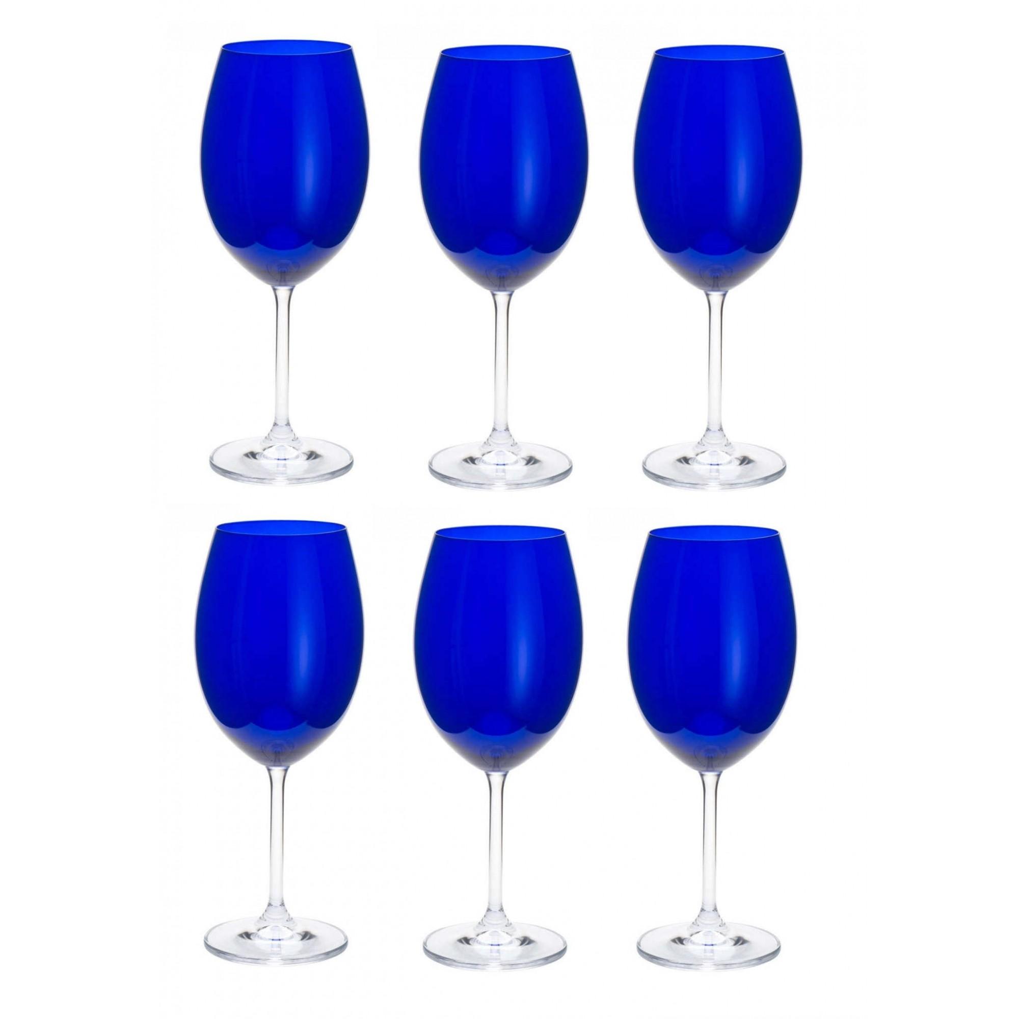 Jogo de 6 Taças Gastro 580ml Azul Cobalt