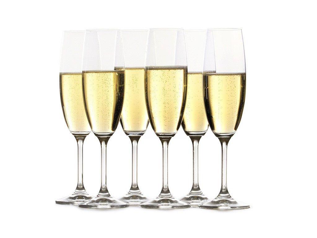Jogo de 6pçs Taças Cristal Champagne  220 ml Gastro