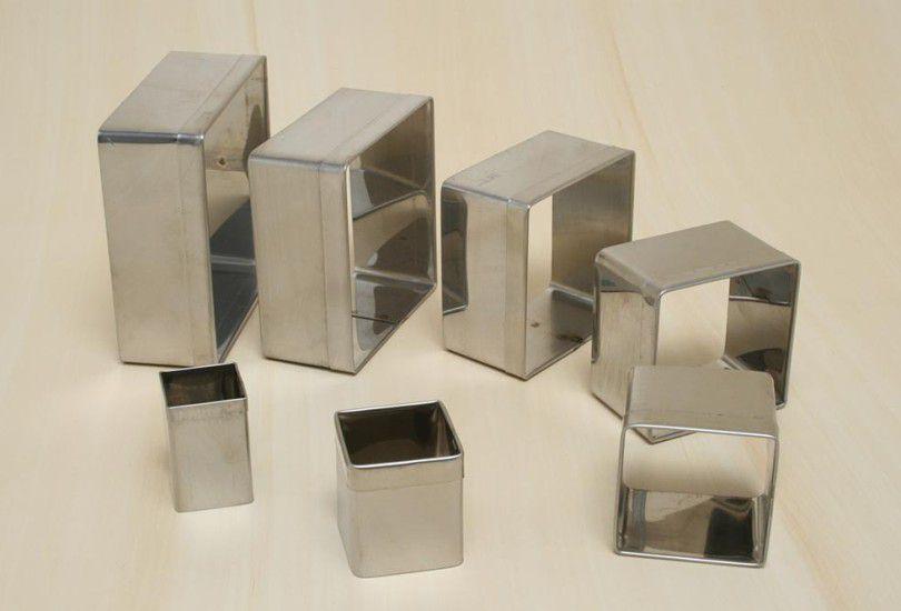 Jogo de Cortador Quadrado Liso Alumínio 7 peças