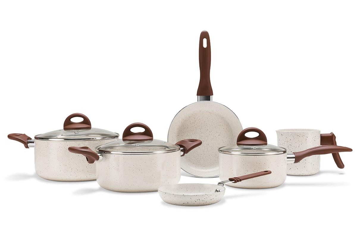 Jogo de Panelas 6pçs Ceramic Life Smart Plus