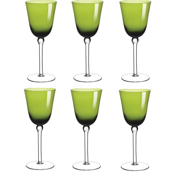 Jogo de Taças de Vinho Verde 300ml Cibele