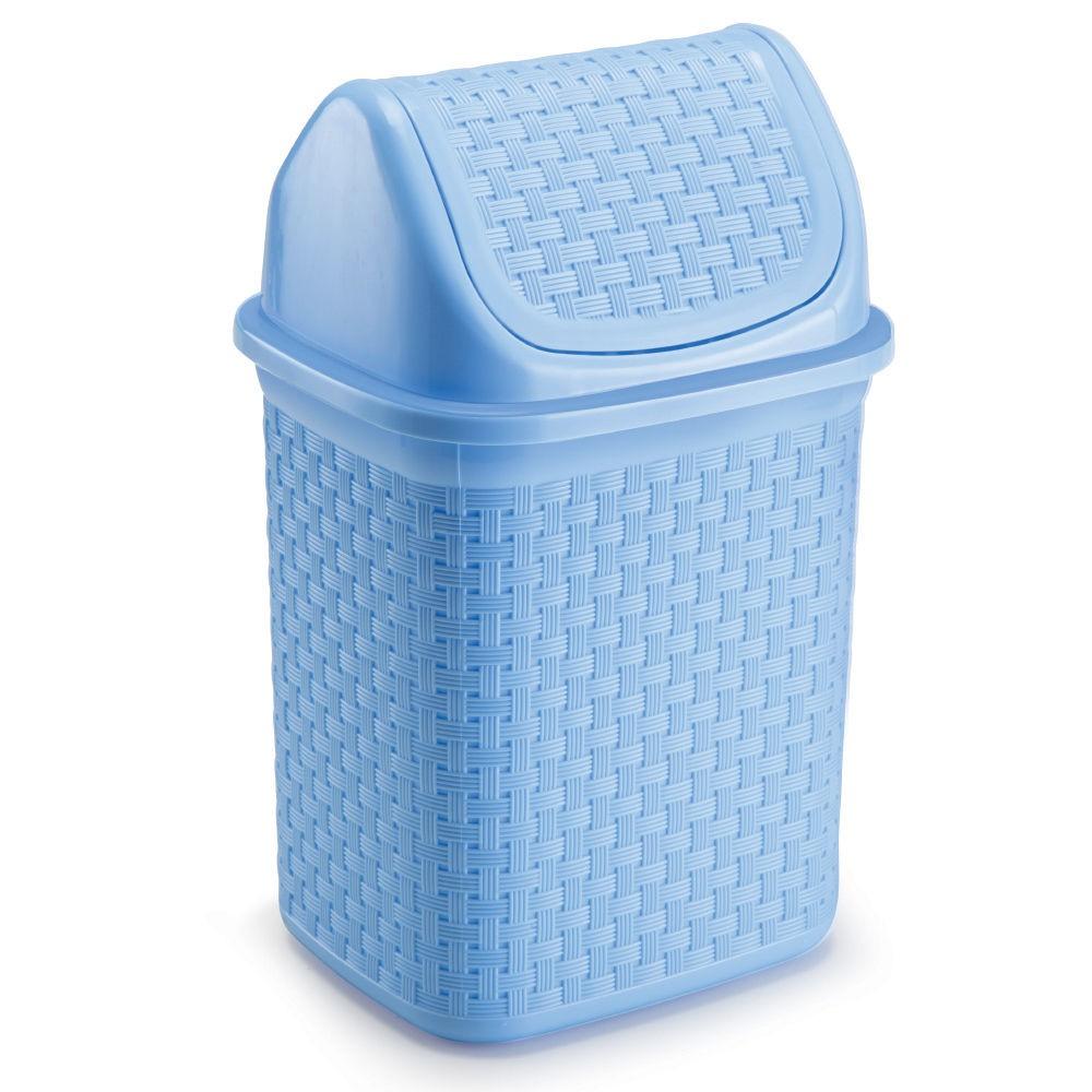 Lixeira de Pia Basculante Rattan 4,5L Azul Baby