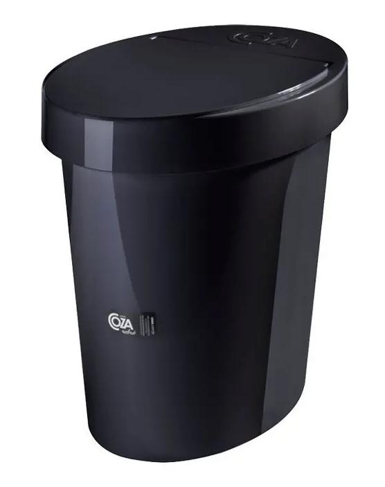 Lixeira Oval Glass 5L Preta