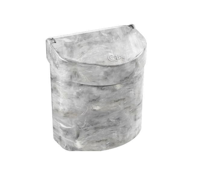 Lixeira para Pia Multi Glass 2,7L Mármore Branco