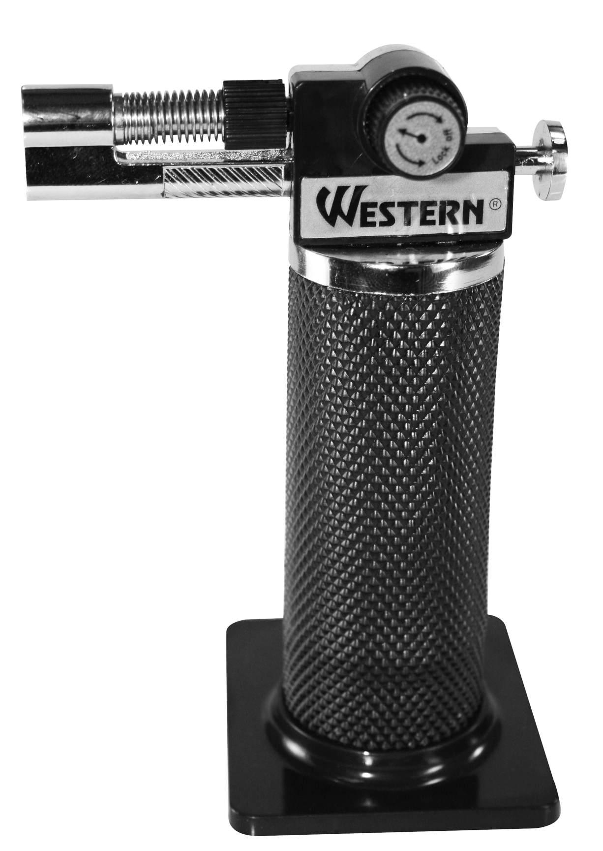 Maçarico Mini 13,5 cm Recarregável Preto