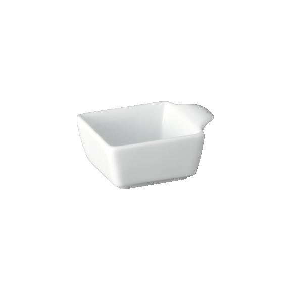 Mini Bowl Porcelana Quadrado com Alça 60cm Couvert