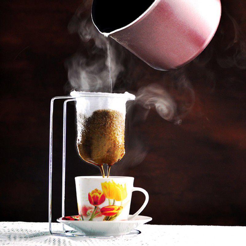Mini Coador de Café com Suporte Cromado
