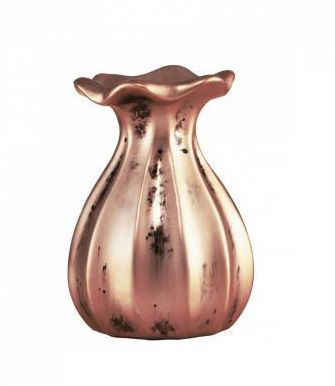 Mini Vaso de Cerâmica Cobre 14cm