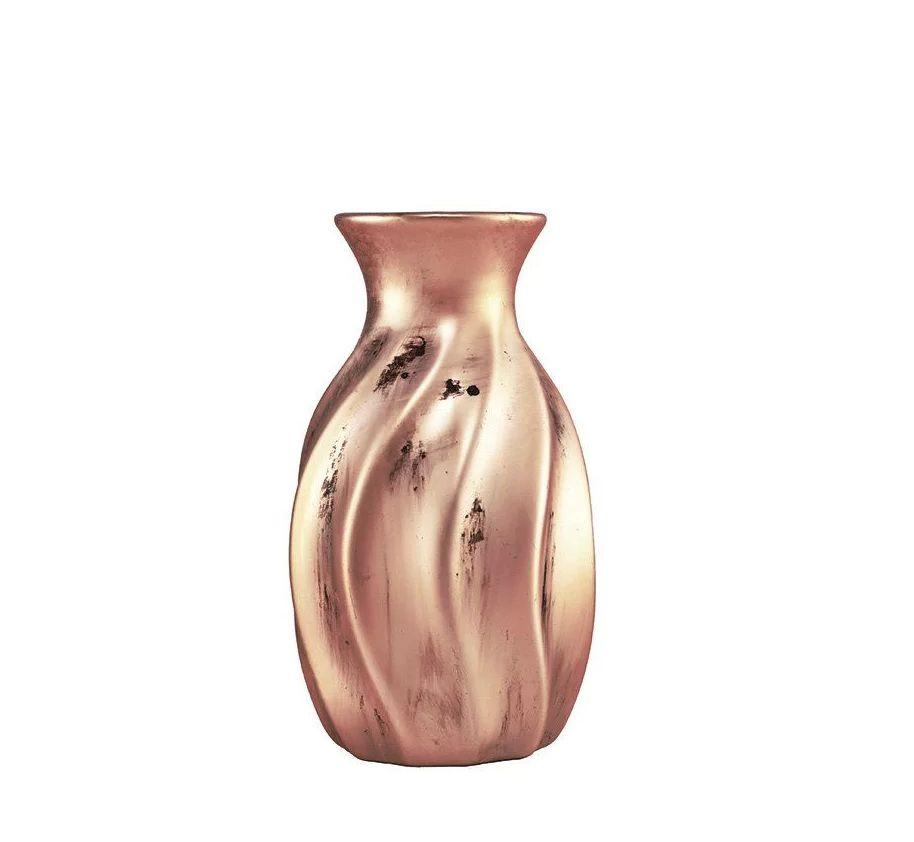 Mini Vaso de Cerâmica Cobre 16cm