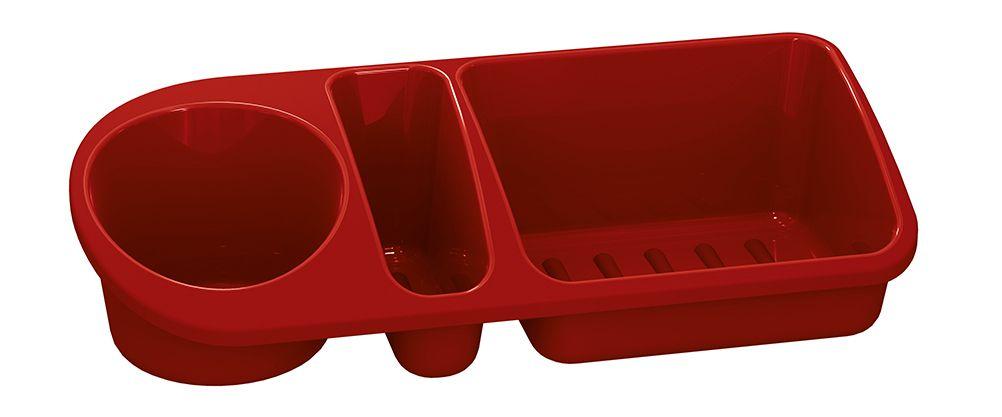 Organizador de Pia Plástico Vermelho