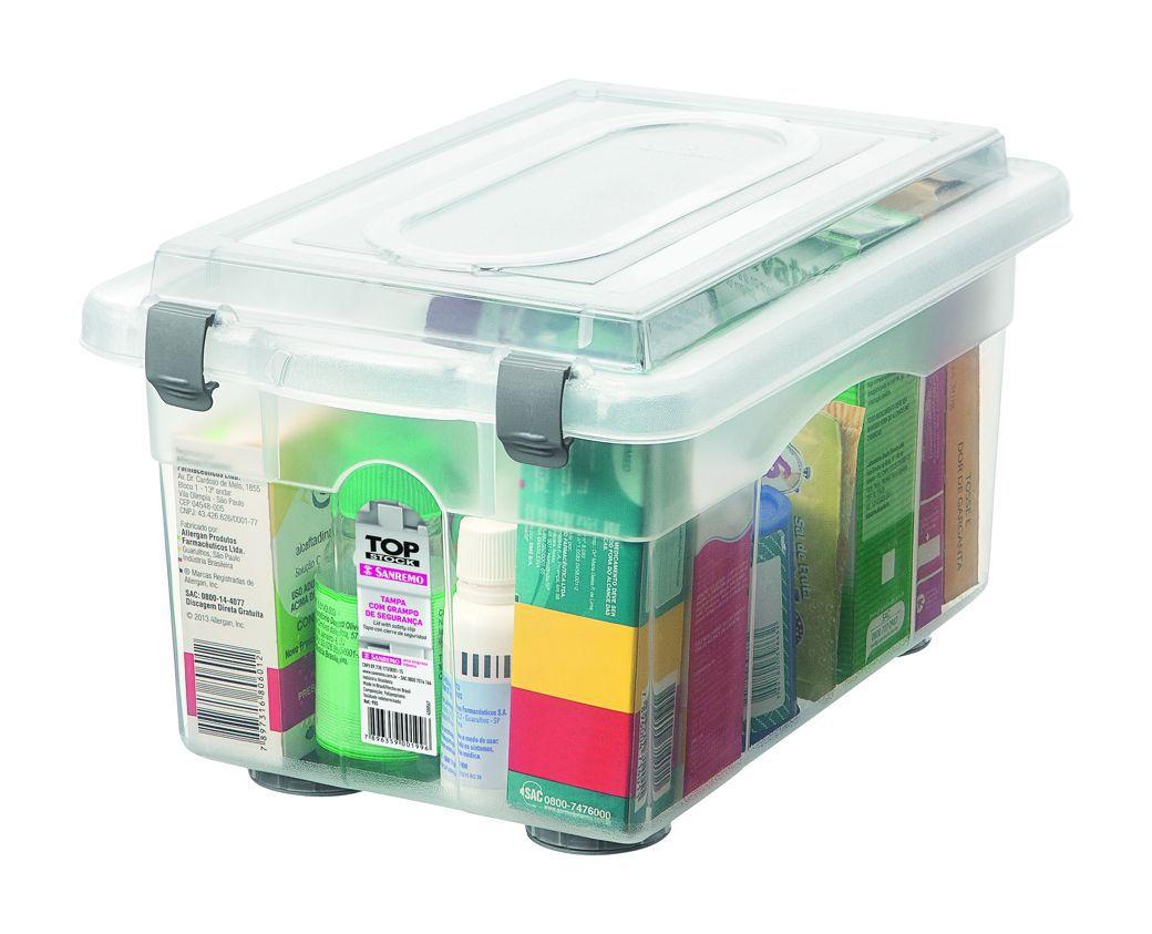 Organizador de Plástico com Travas Laterais 4,3 L Top Stock
