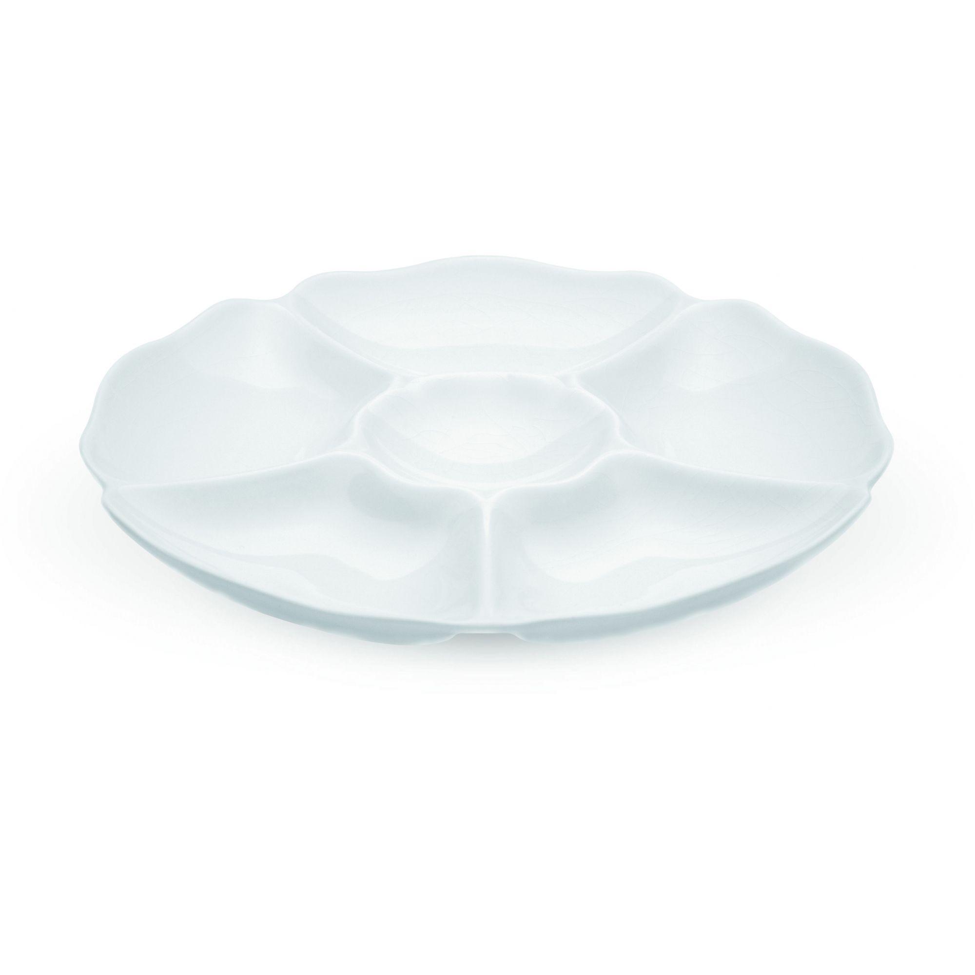 Petisqueira 30 cm 6 Divisões Branca