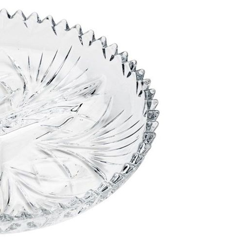 Petisqueira de Cristal com 3 Divisórias Alberta