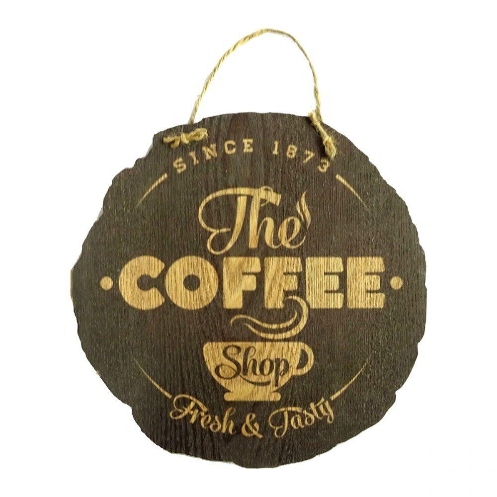 Plaquinha de Madeira The Coffee 30cm