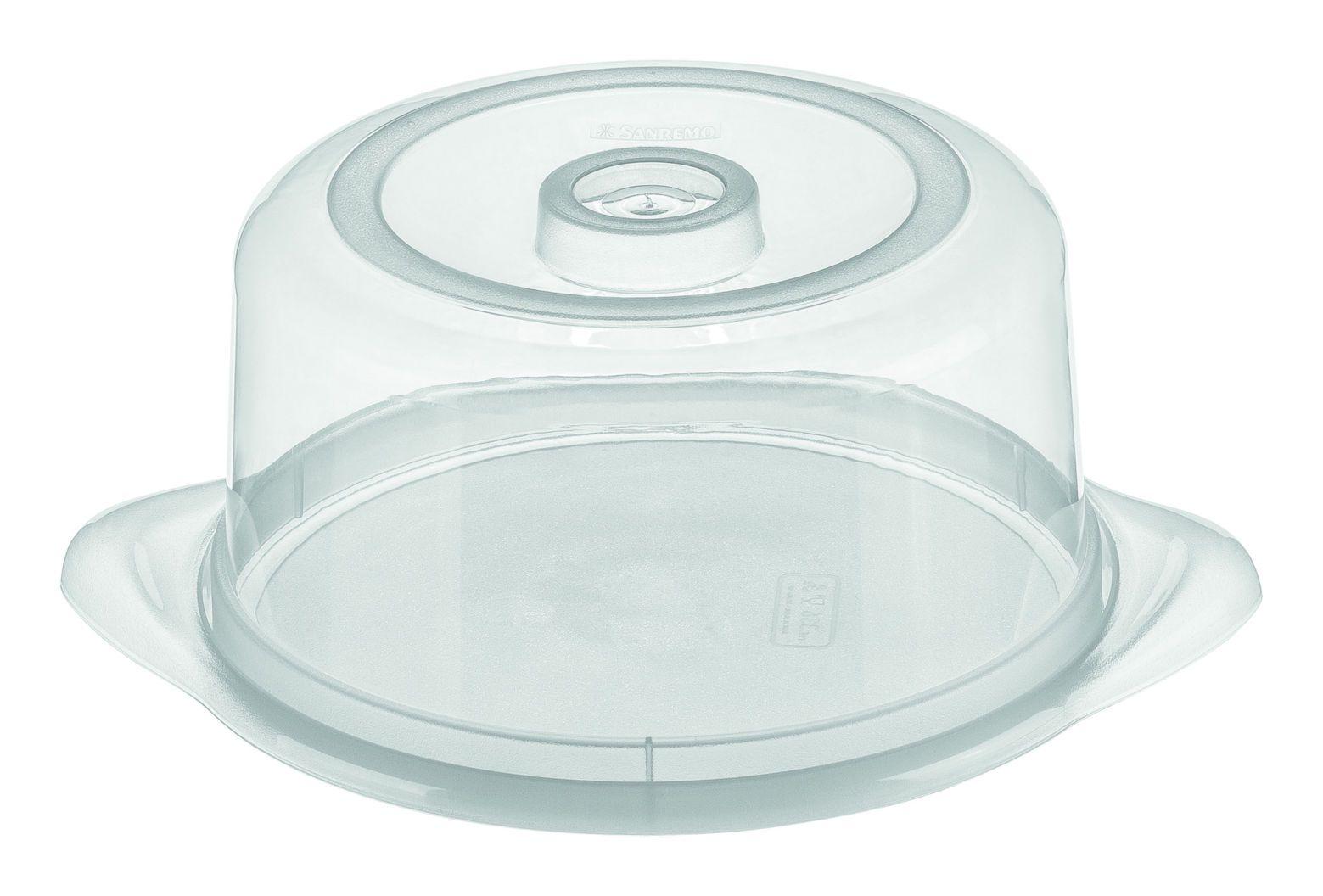 Porta Bolo Plástico Redondo Médio 24,4 cm Casar
