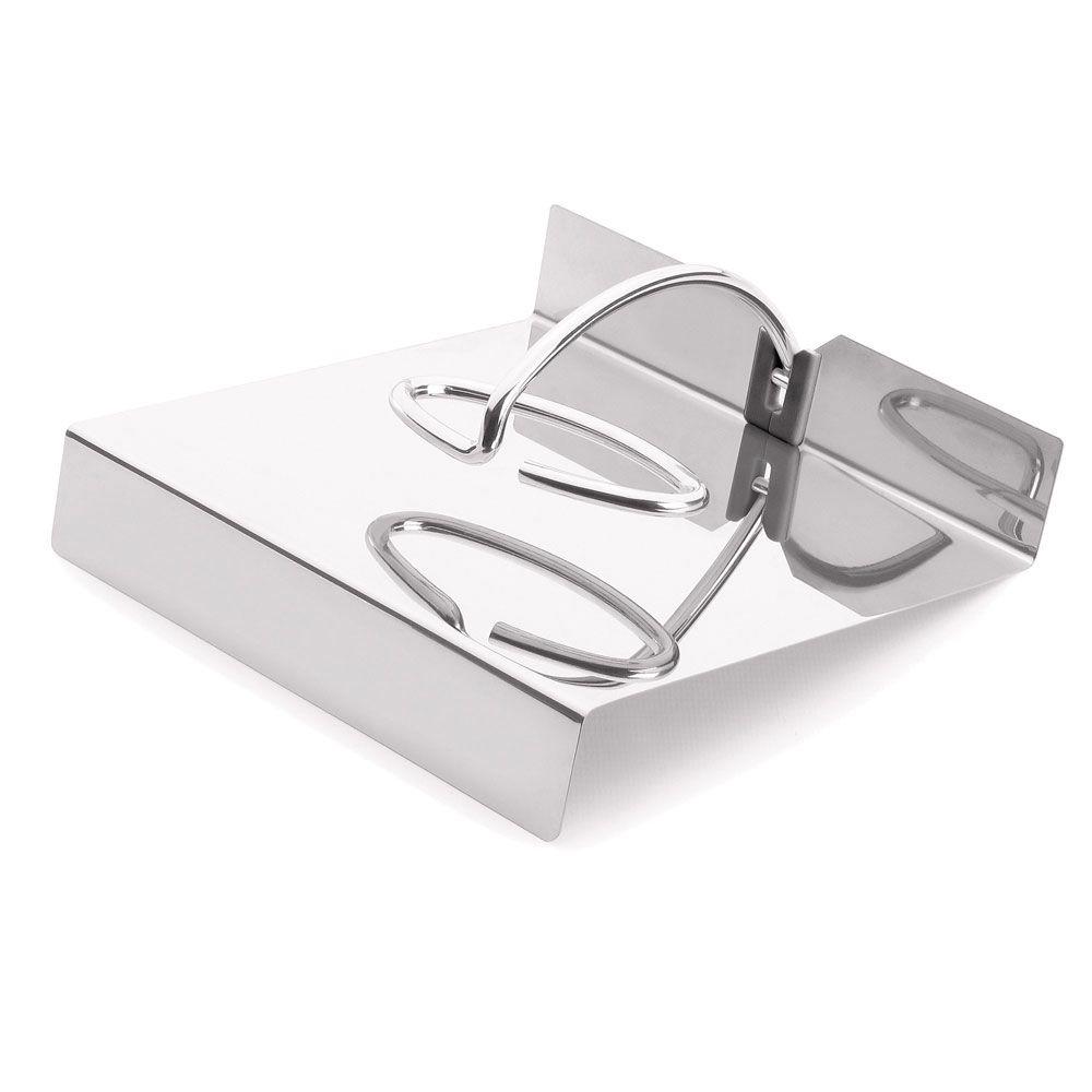 Porta Guardanapo Inox Pequeno 13 x 12,5 cm Gloss