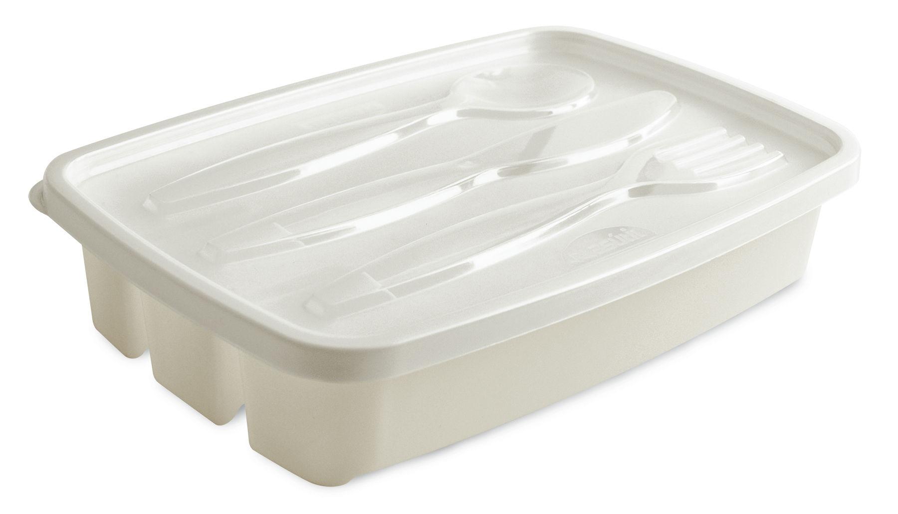 Porta Talher de Plástico 3 Divisórias