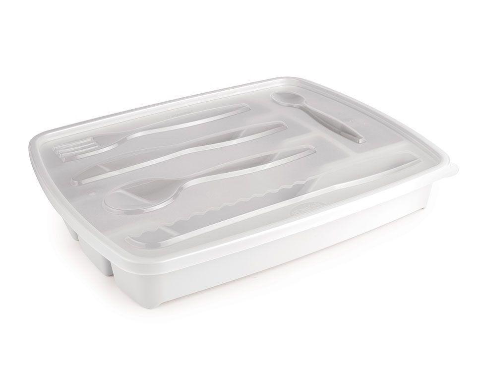Porta Talher de Plástico 5 Divisórias