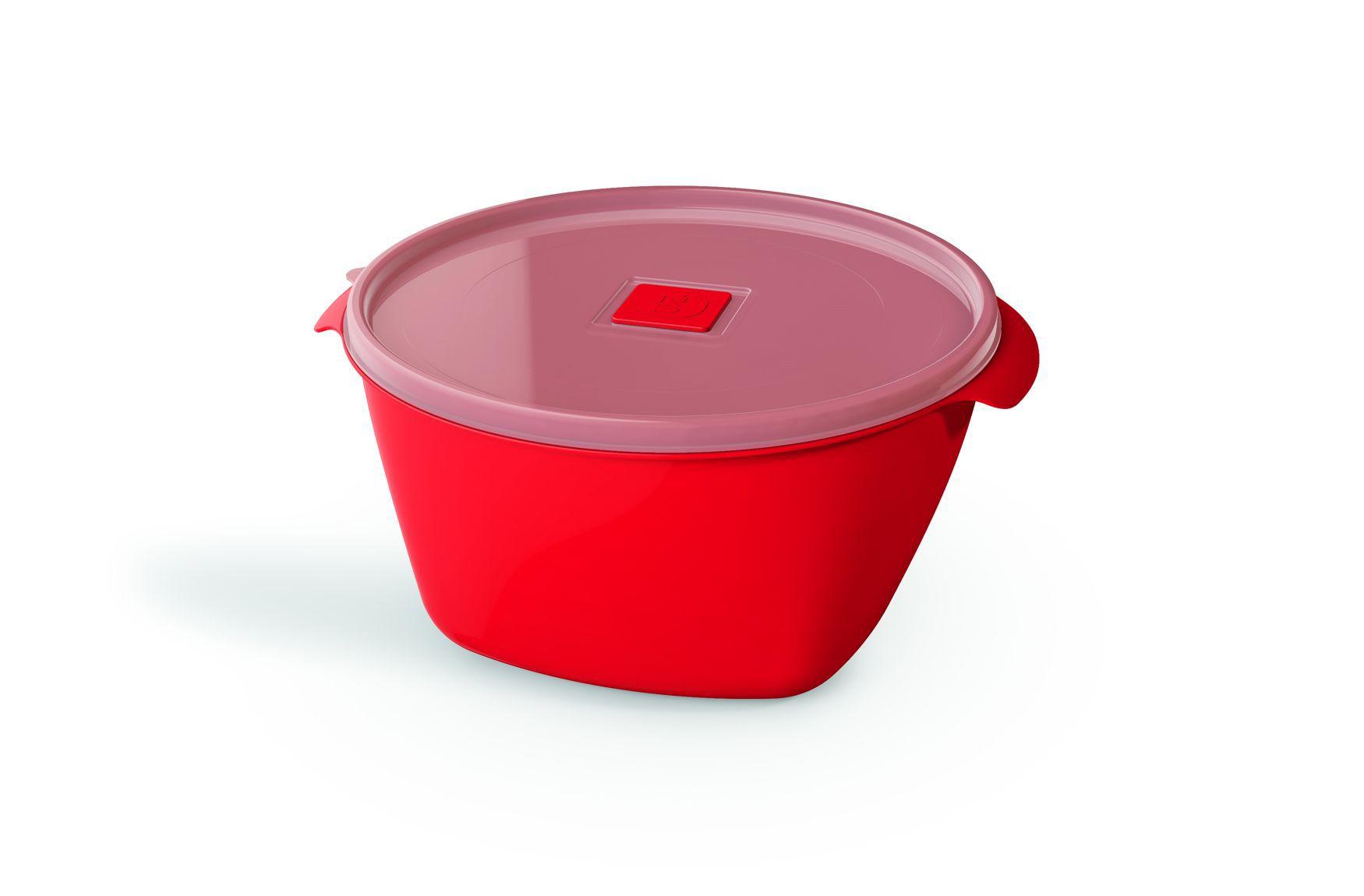 Pote Plástico 2,0 L Premium Vermelho