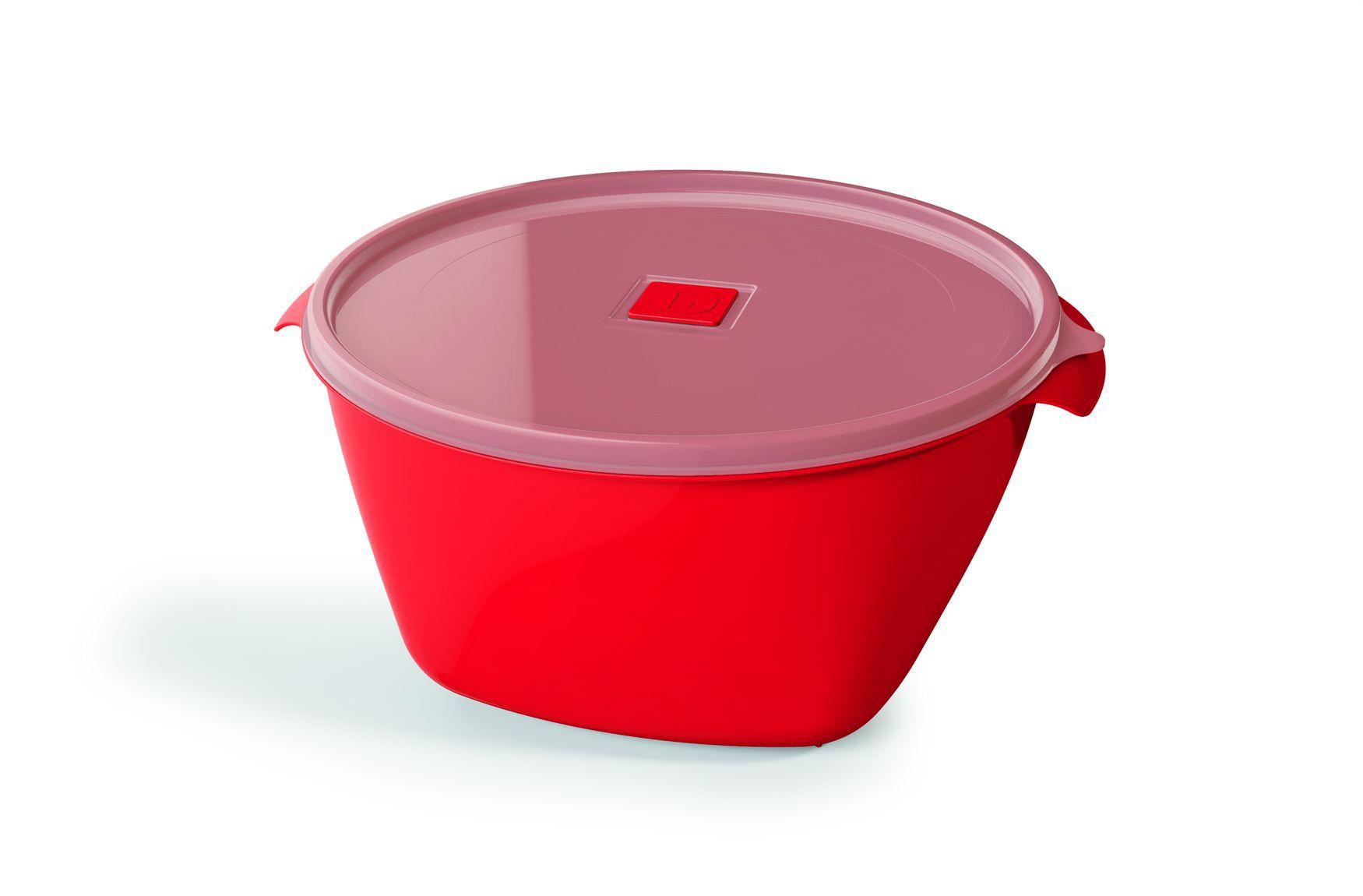 Pote Plástico 4,0 L Premium Vermelho
