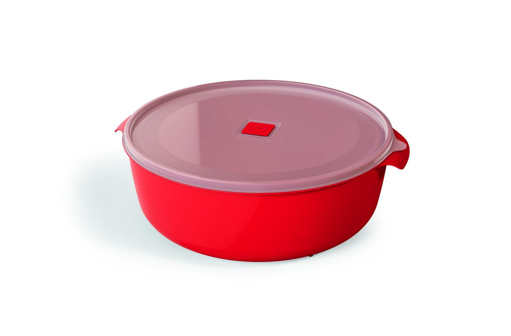 Pote Plástico 5,0 L Premium Vermelho
