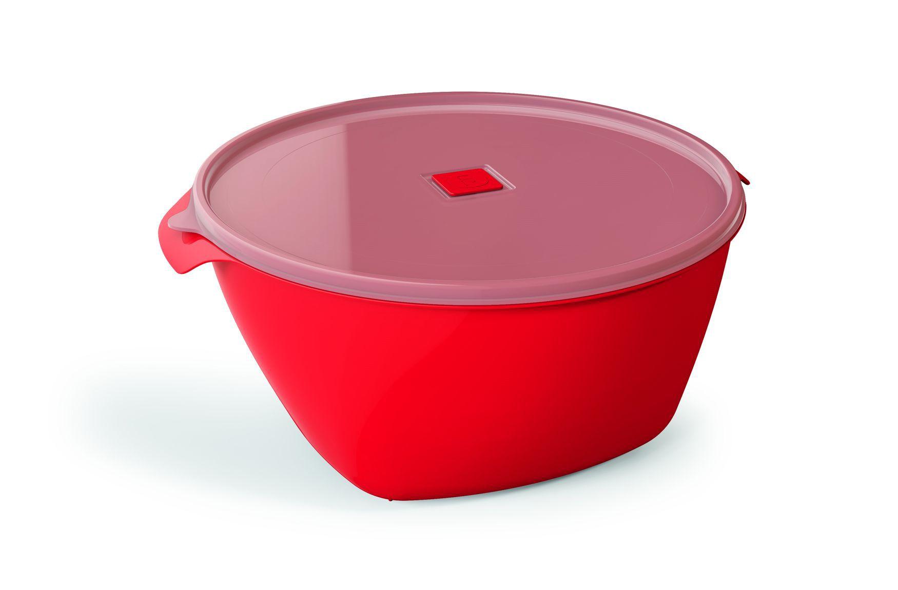 Pote Plástico 6,0 L Premium Vermelho