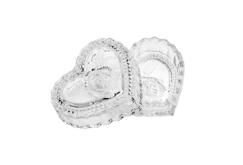 Potiche Coração Decorativo de Cristal