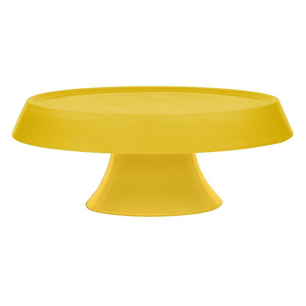 Prato bolo Tower 27cm Amarelo