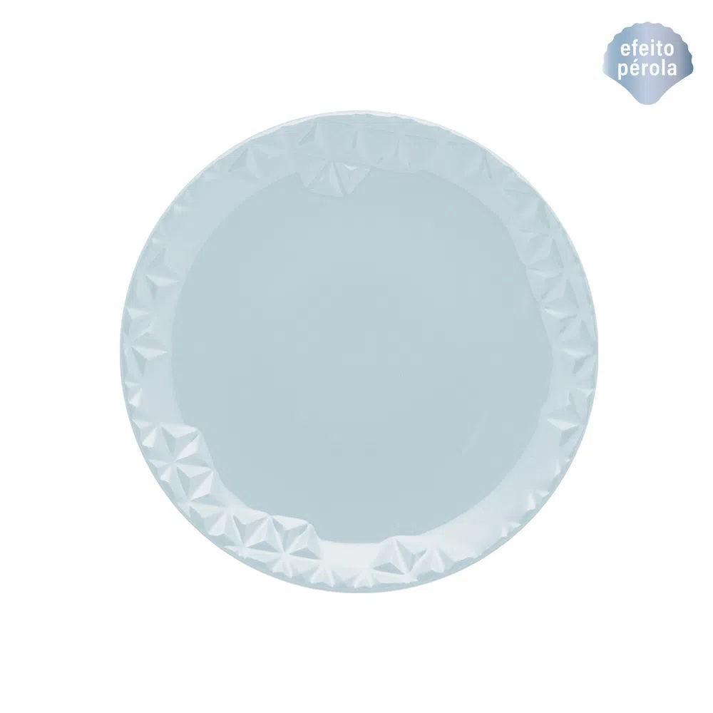 Prato de Sobremesa 21cm Mia Cristal Azul