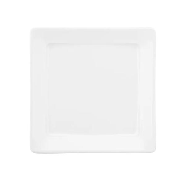 Prato de Sobremesa 21x21cm Nara White