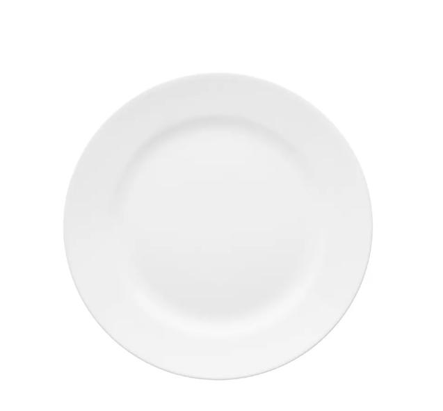 Prato de Sobremesa 22cm Flamingo Branco