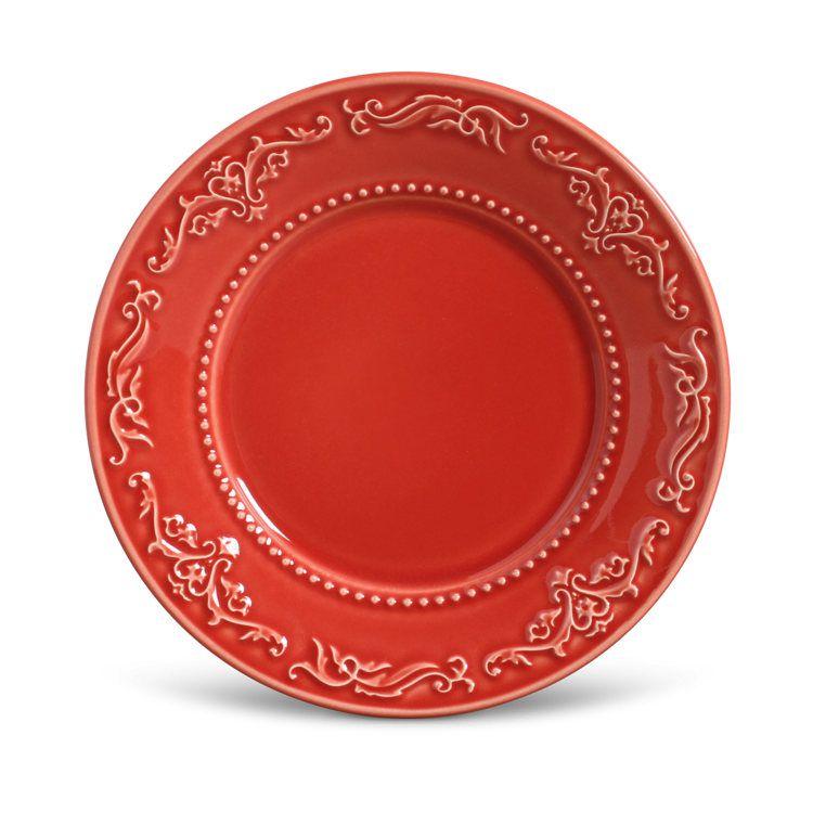 Prato de Sobremesa Acanthus Vermelho