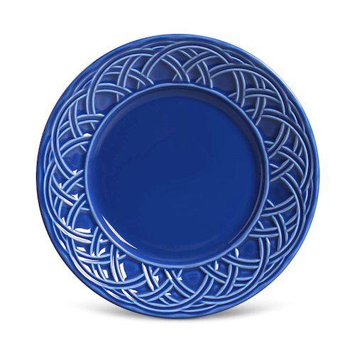 Prato de Sobremesa Cestino Azul Navy