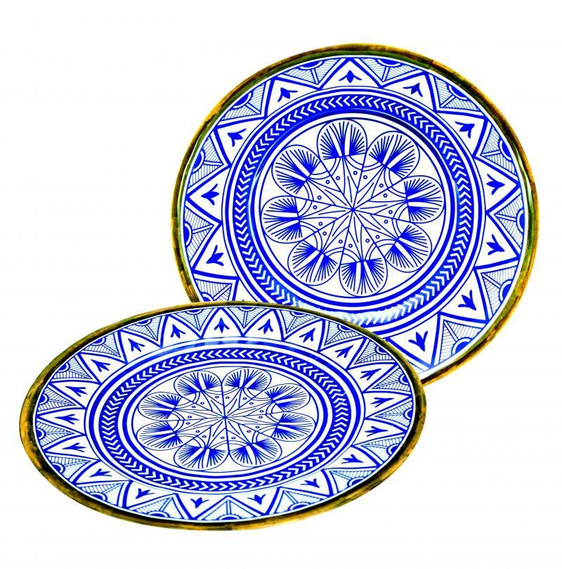 Prato de Sobremesa Melamina 22cm Mandala