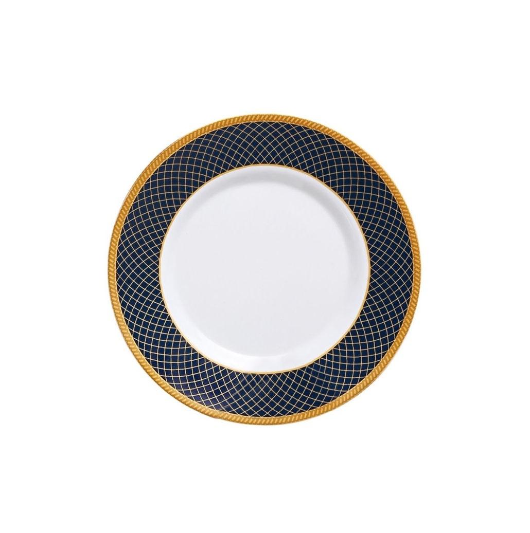 Prato de Sobremesa  Vidro 20cm Dubai Blue