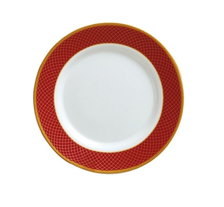 Prato de Sobremesa Vidro 20cm Dubai Red