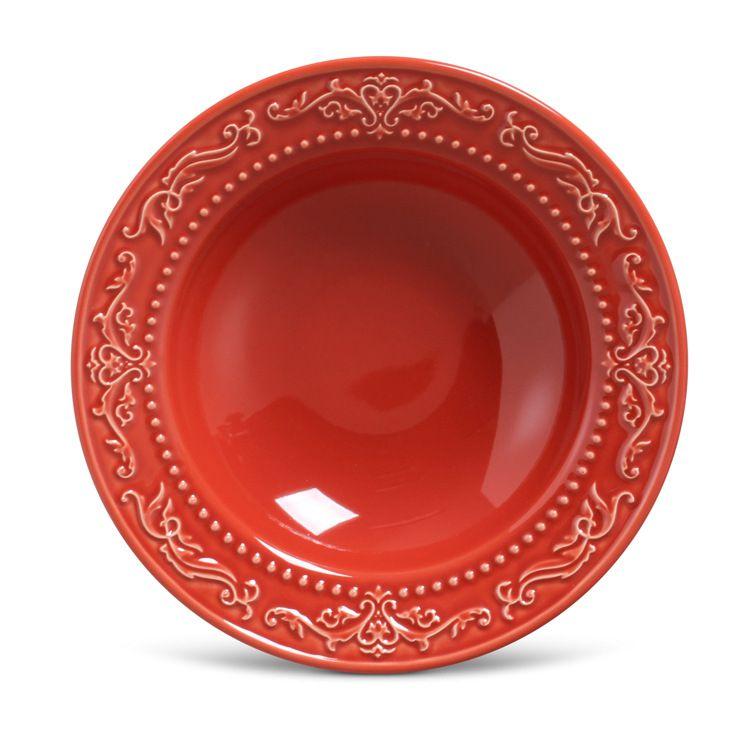 Prato Fundo Acanthus Vermelho