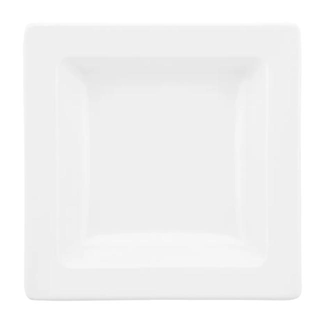 Prato Fundo Quadrado de Porcelana 21cm Nara White
