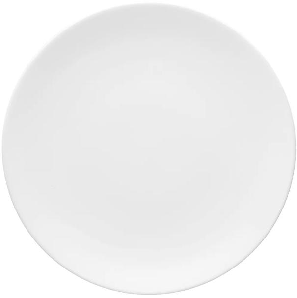 Prato Raso 28cm Coup White