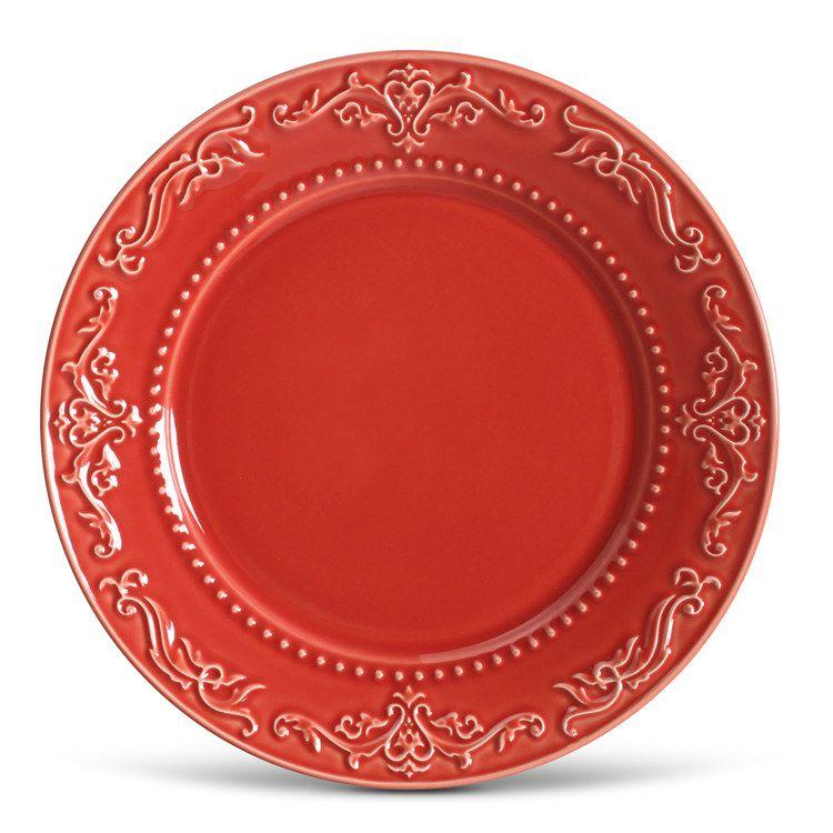 Prato Raso Acanthus Vermelho
