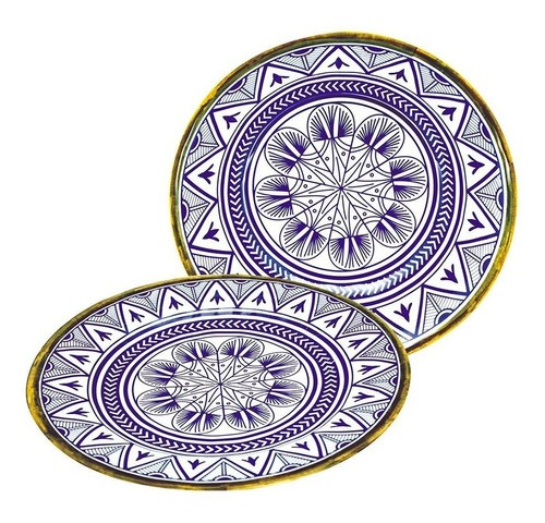 Prato Raso de Melamina  26,5cm Mandala