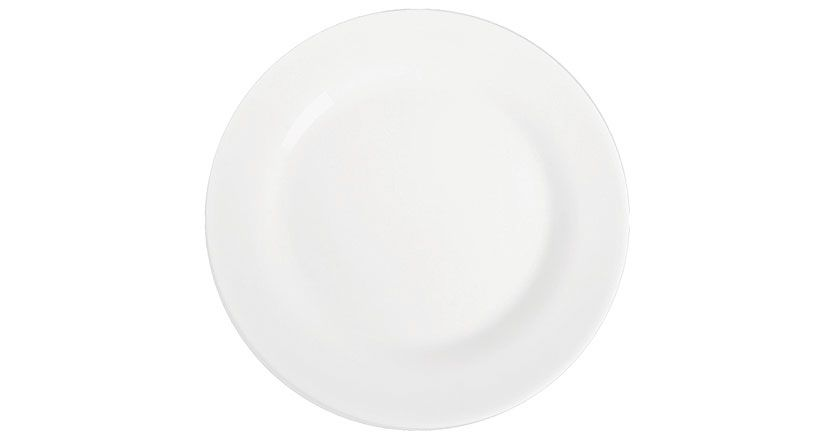 Prato Raso Menu Opaline 26,5 cm Branco