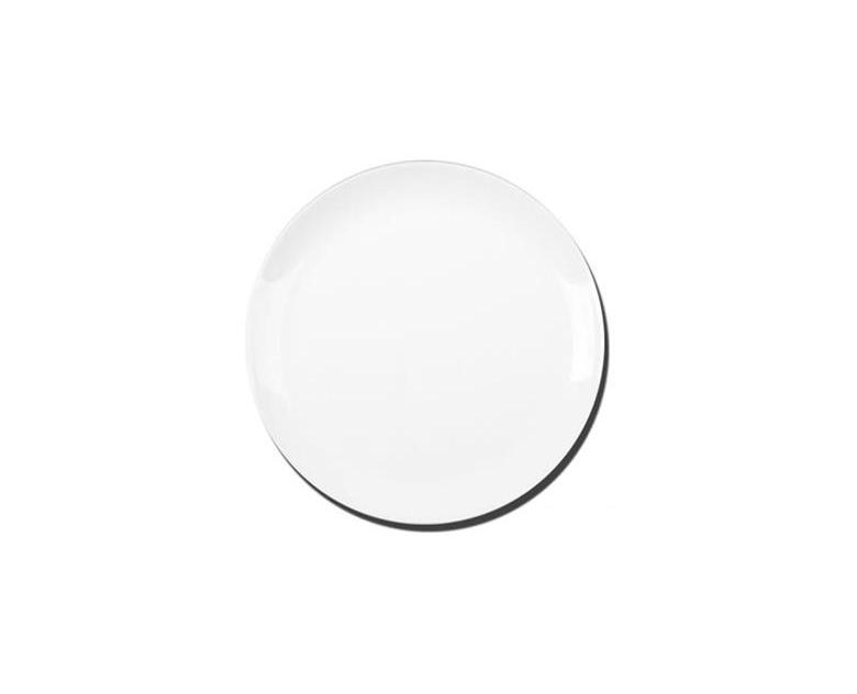 Prato Raso Opaline Blanc 27cm