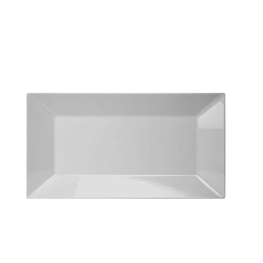 Prato Retangular de Melamina 25,4 x 15,2cm