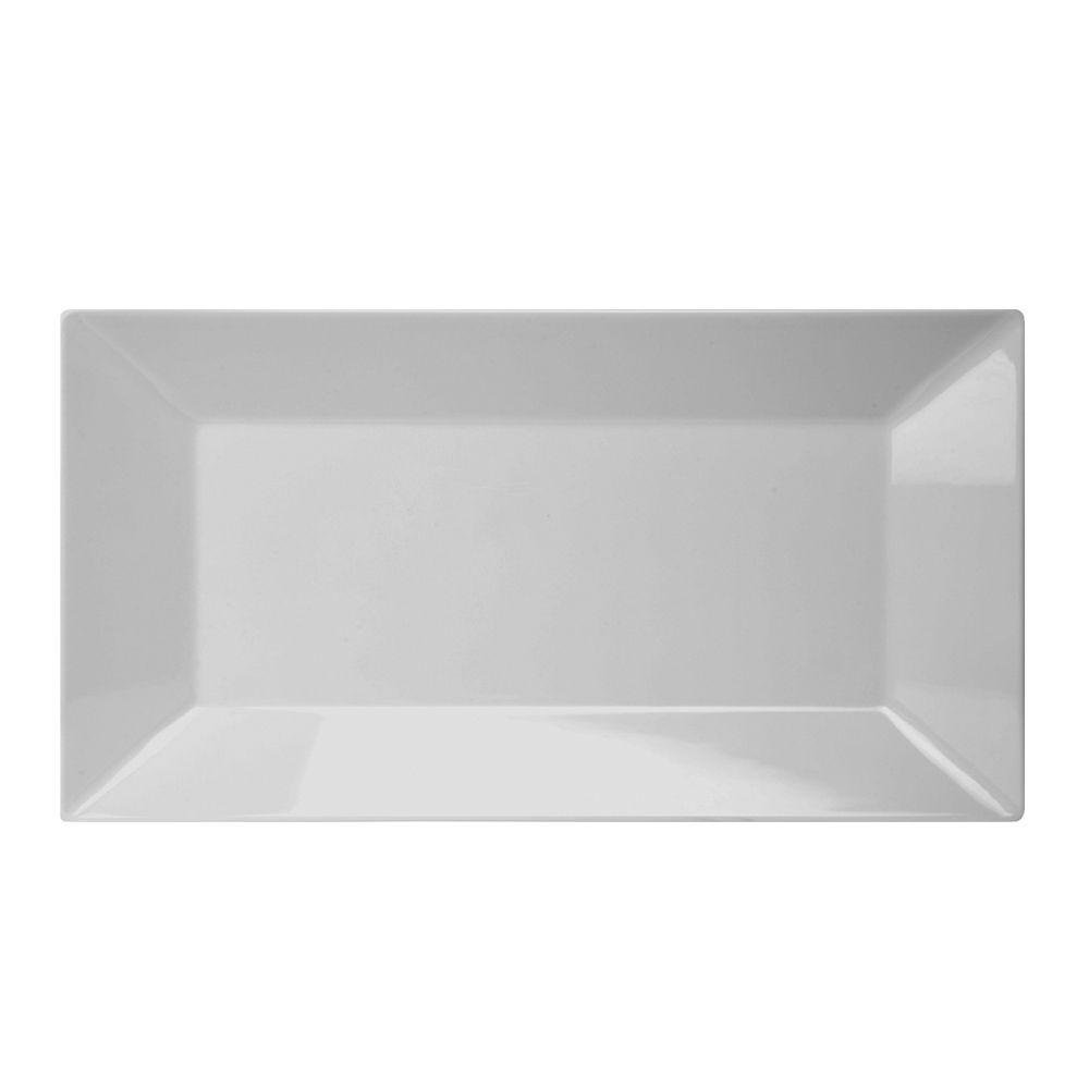 Prato Retangular de Melamina 45,7 x 26,7 cm