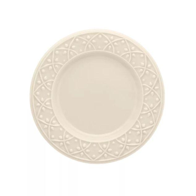 Prato Sobremesa 20cm Mendi Marfim