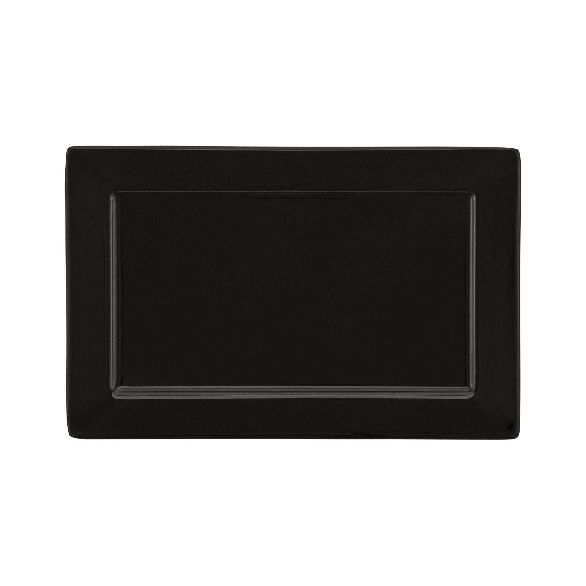 Prato Sobremesa 25x16 cm Plateau Black