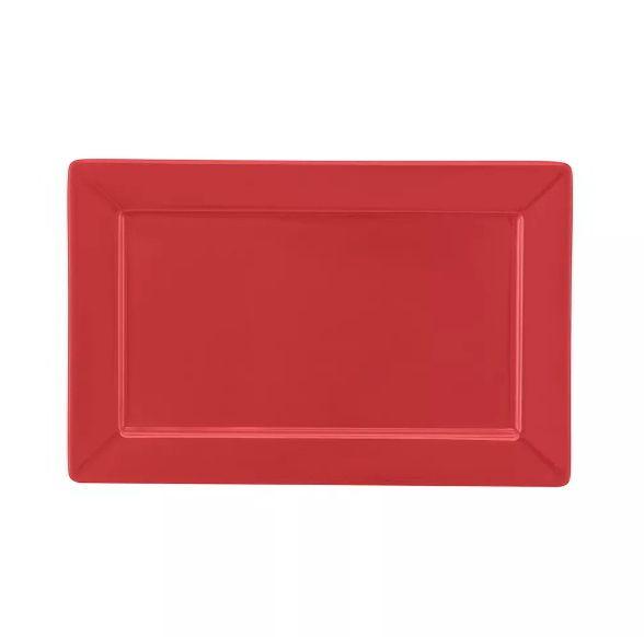 Prato Sobremesa 25x16cm Plateau Red