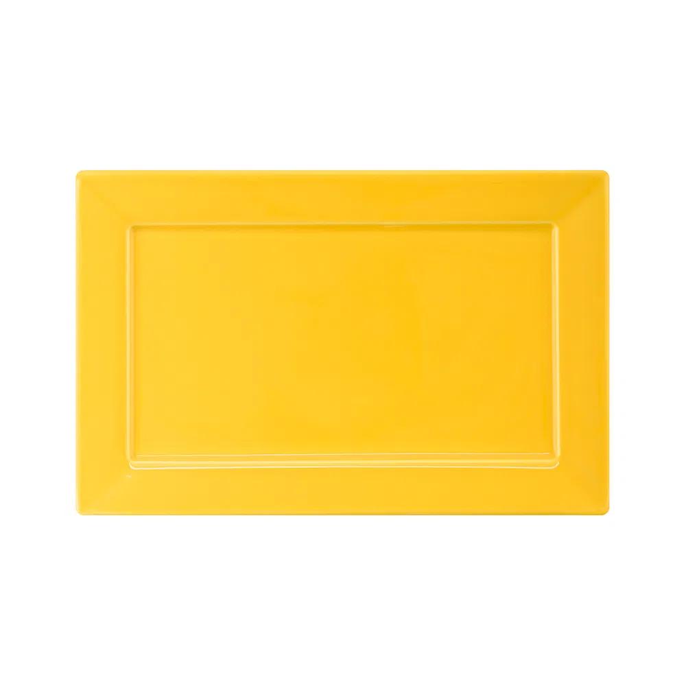 Prato Sobremesa 25x16cm Plateau Yellow