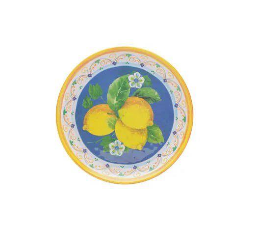 Prato Sobremesa Lemon 21cm em Melamina
